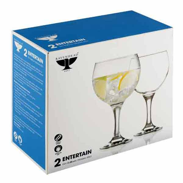 R/H GIN BALLOON GLASSES 65cl 2 PACK