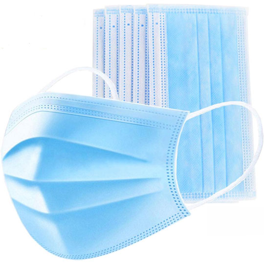 DISPOSABLE FACE MASK 3 PLY 5 x 10PK