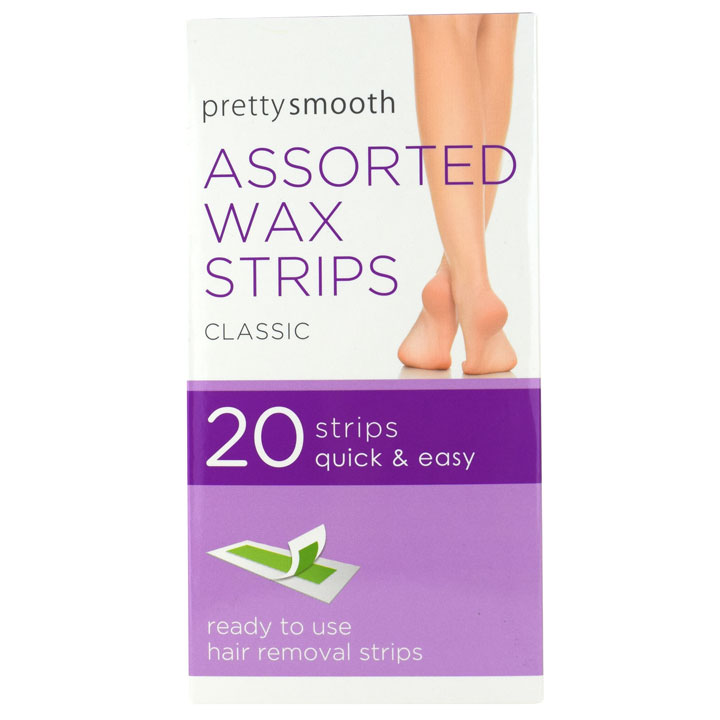 PRETTY SMOOTH ASTD WAX STRIPS 20PK