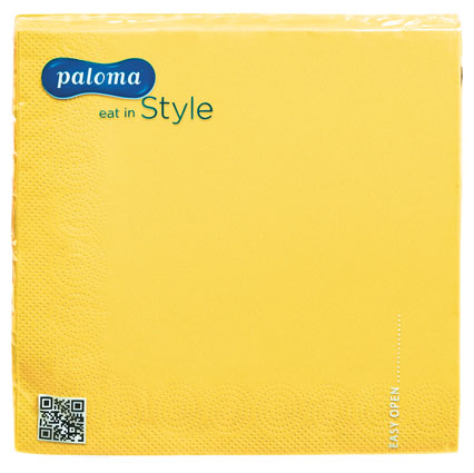PALOMA 3PLY NAPKINS YELLOW 20PK