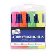 J/S CHUNKY HIGHLIGHTERS ASSTD 4 PK