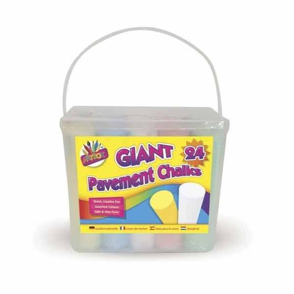 GIANT PAVEMENT CHALKS IN TUB 24 PK