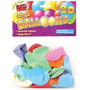 PARTY CRAZY 9 INCH BALLOONS 20 PK