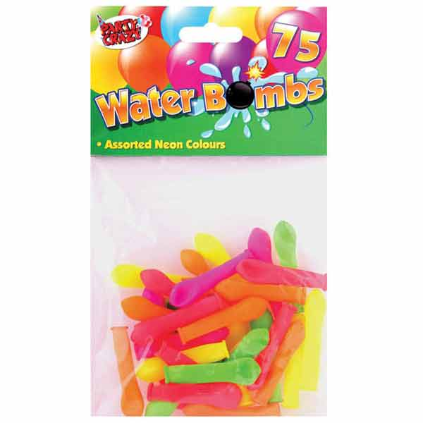 WATER BOMBS ASSORTED COLOURS 75PK