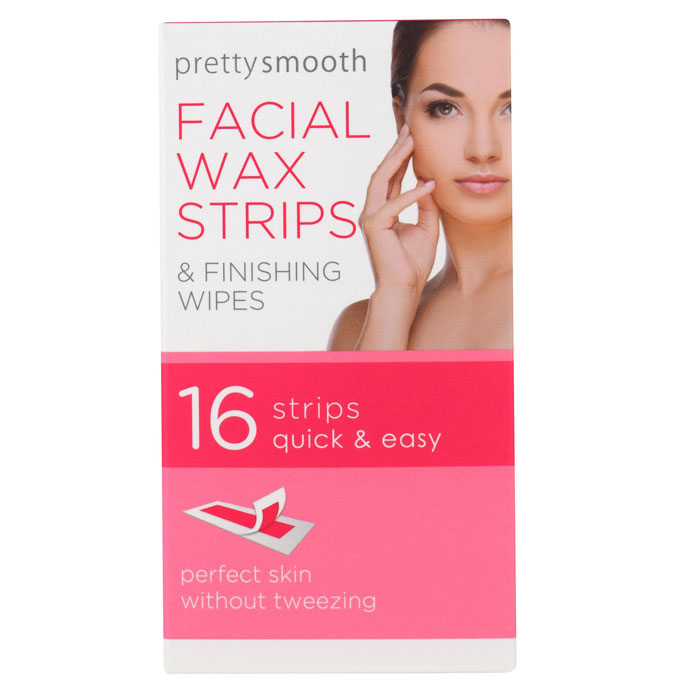 PRETTY SMOOTH FACE WAX STRIPS 16PK