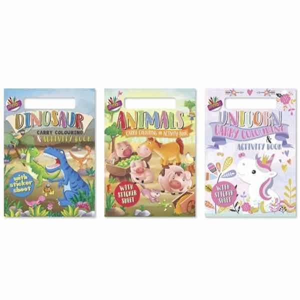A4 CARRY COLOURING & ACTIVITY PAD