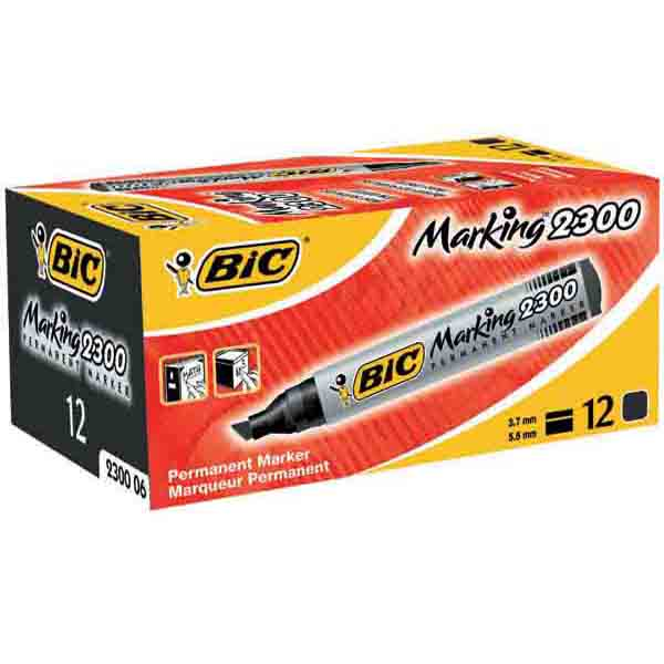 BIC PERMANENT MARKER BLACK BOXED