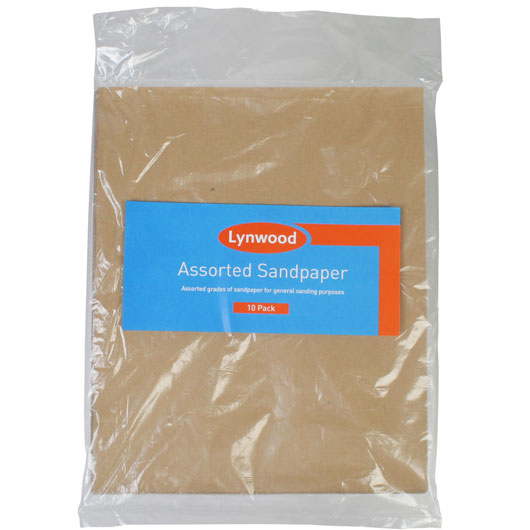 LYNWOOD ASSORTED SANDPAPER 10 PACK