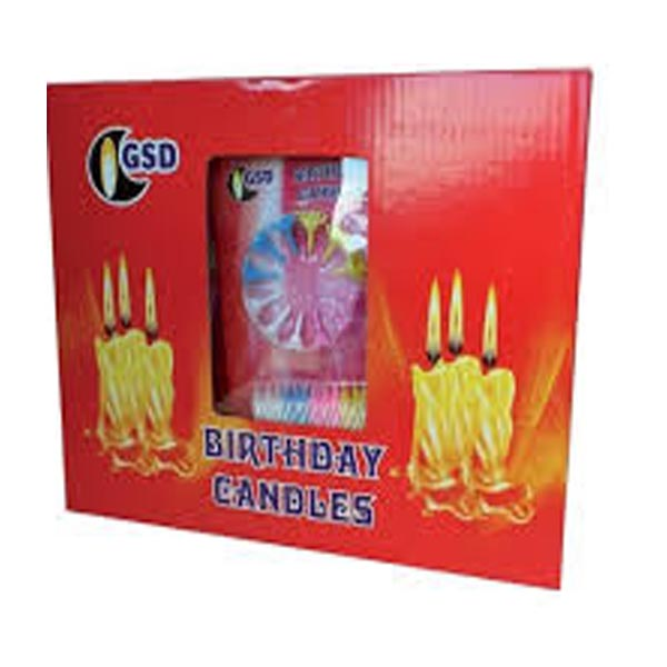 GSD BIRTHDAY CANDLES & HOLDERS