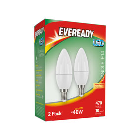 S15299 ER LED CANDLE 5.2/40W SES 2s